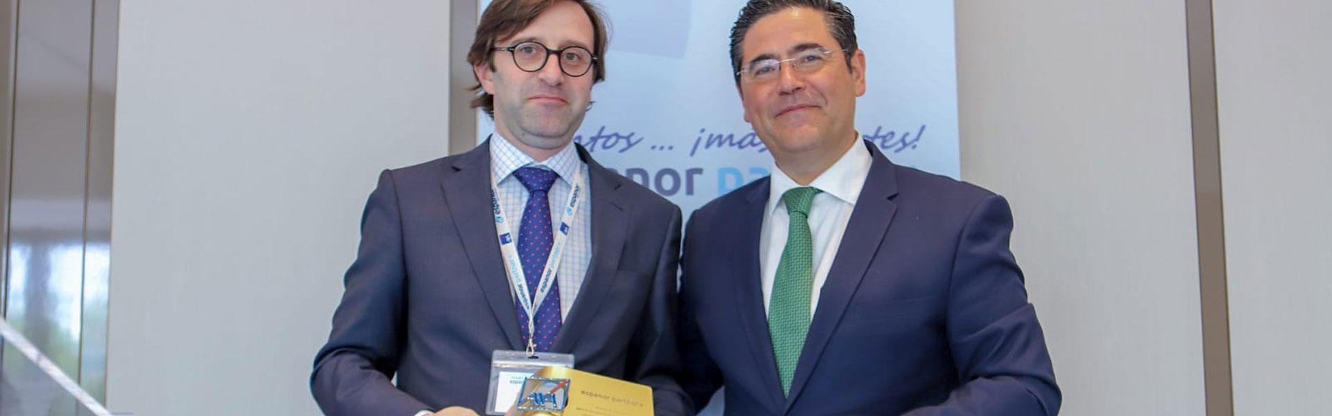Premio Espanor AXA a la mejor gestión de corredor de seguros Picazo de Nova
